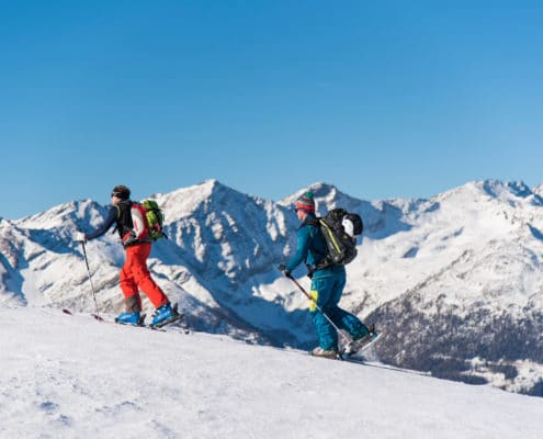 Nockberge-Trail Skidurchquerung mit Blick auf die Nockberge