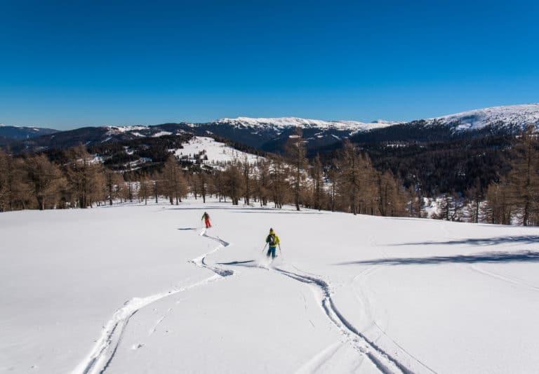 Abfahrt vom Teuerlnock auf der Nockberge-Trail Skidurchquerung