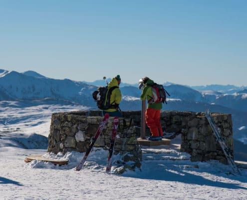 Panoramablick Plattform Adlerhorst auf der Nockberge-Trail Skidurchquerung