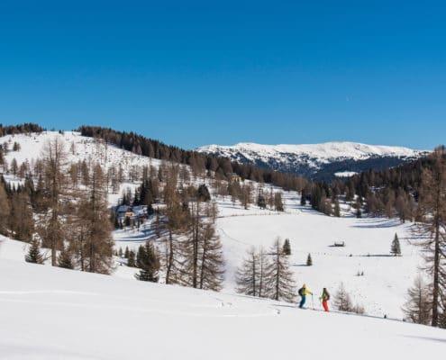 Laußnitzhöhe auf der Nockberge-Trail Skidurchquerung