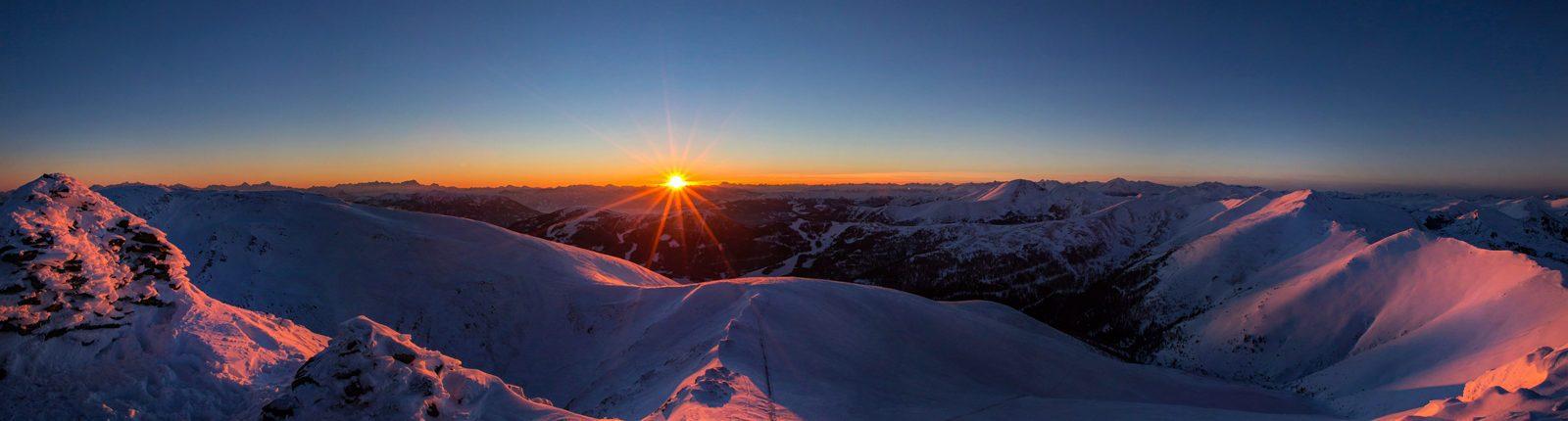 Sonnenuntergang am Falkertspitz
