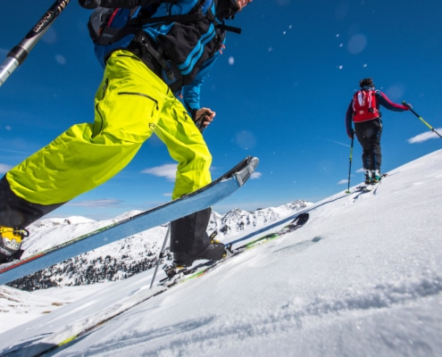 Skitourengeher am Nockberge-Trail