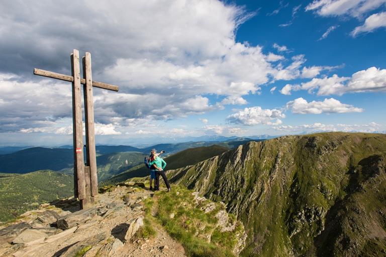 Falkertgipfel Nockberge-Trail Wanderroute 3. Etappe