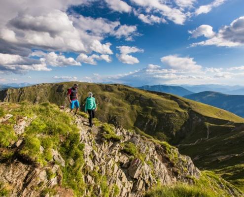 Wandern an der Nockberge-Trail Wanderroute