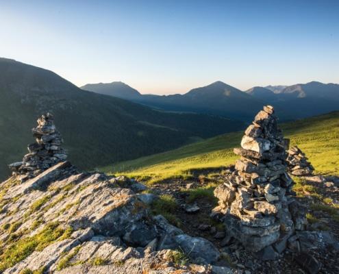 Nockberge-Trail Wanderroute Morgenstimmung in Innerkrems
