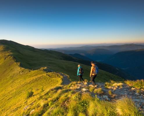 Morgenstimmung an der Nockberge-Wanderroute